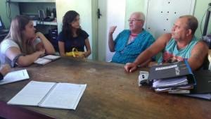 Conversa com a diretoria da Associação de Moradores da Ilha da Conceição